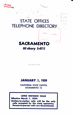 Official Telephone Directory  State Capitol  Sacramento PDF