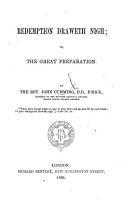 Redemption draweth nigh  or the Great preparation PDF