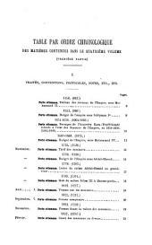 Recueil des traités de la Porte ottomane avec les puissances etrangères depuis ... 1536, par le baron I. de Testa: Volume 4