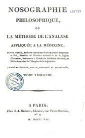 Nosographie philosophique, ou La méthode de l'analyse appliquée à la médecine