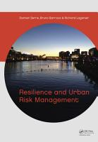 Resilience and Urban Risk Management PDF