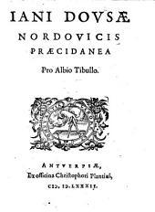 Iani Dovsae Nordovicis Praedicanea Pro Albio Tibullo