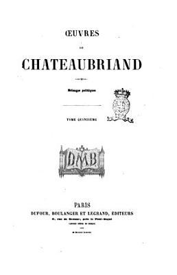 uvres de Chateaubriand  Tome premier   tome vingti  me  PDF