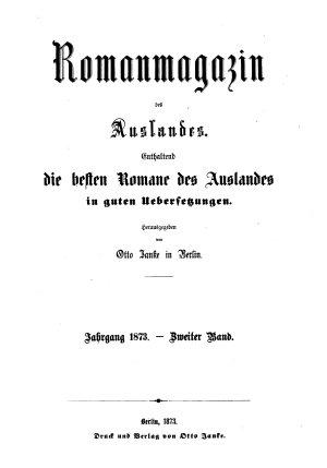 Roman Magazin des Auslandes PDF