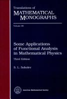 Some Applications of Functional Analysis in Mathematical Physics PDF