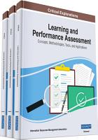 Learning and Performance Assessment  Concepts  Methodologies  Tools  and Applications PDF