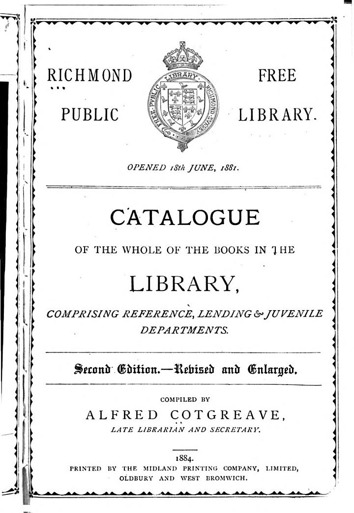 Catalogue of the Whole of the Books in the Library