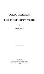 Coleg Harlech PDF