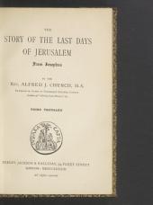 The Story of the Last Days of Jerusalem: From Josephus