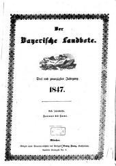 Der Bayerische Landbote: 1847