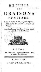 Recueil des Oraisons funèbres