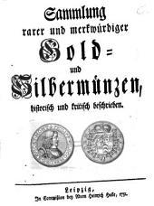 Sammlung rarer und merkwürdiger Gold- und Silbermünzen