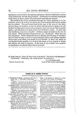 Sermons in All Souls Monthly  1888 1891 PDF
