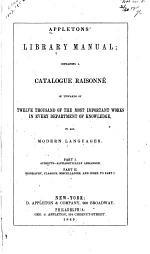 Appletons' Library Manual
