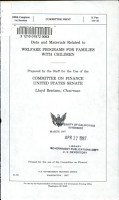 Data and Materials Related to Welfare Programs for Families with Children PDF