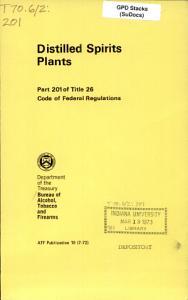 Distilled Spirits Plants