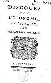 Discours sur l'économie politique