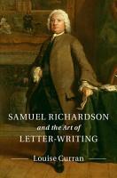 Samuel Richardson and the Art of Letter Writing PDF
