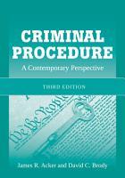 Criminal Procedure  A Contemporary Perspective PDF