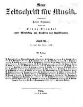 Neue Zeitschrift für Musik: Bände 24-25