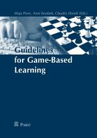 Guidelines for Game based Learning PDF