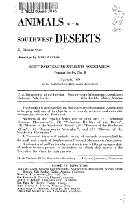 Animals of the Southwest Deserts PDF