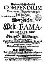 Auf das 1701. Jahr [erster halber Jahr-Gang]: Volume 1