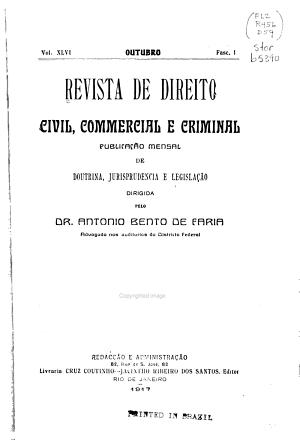 Revista de direito civil  commercial e criminal PDF