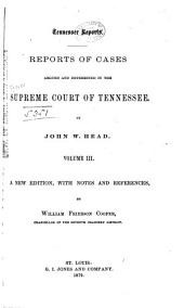 Reports of Cases Argued and Determined in the Supreme Court of Tennessee: Volume 40