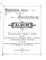 Portrait and Biographical Album of Washington County  Iowa PDF