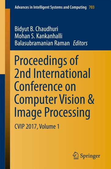 Proceedings of 2nd International Conference on Computer Vision   Image Processing PDF