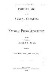 The State of Corrections: Proceedings, ACA Annual Conferences