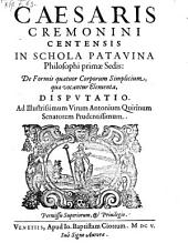 De formis quatuor corporum simplicium, quae vocantur elementa. Disputatio