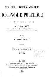 Nouveau dictionnaire d'économie politique: Volume2