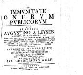 De immunitate onerum publicorum