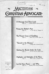 Michigan Christian Advocate PDF