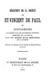 Règlement de la société de Saint Vincent-de-Paul