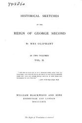 Historical Sketches of the Reign of George Second PDF