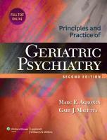 Principles and Practice of Geriatric Psychiatry PDF