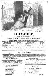La favorite: opéra en quatre actes