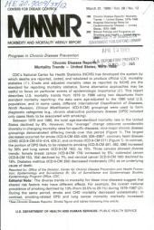 Morbidity and Mortality Weekly Report: MMWR, Volume 38, Issue 12