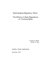 Disentangling Regulatory Policy: The Effects of State Regulations on Trucking Rates