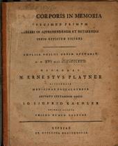 De vi corporis in memoria specimen primum, cerebri in apprehendendis et retinendis ideis officium sistens