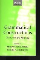 Grammatical Constructions PDF
