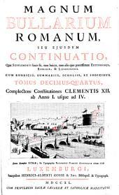 Constitutiones Clementis XII. ab Anno I. usque ad IV.: Volume 14