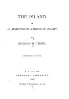 The Island  Or  An Adventure of a Person of Quality PDF