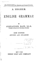 A Higher English Grammar