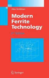 Modern Ferrite Technology: Edition 2