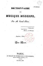 Dictionnaire de musique moderne