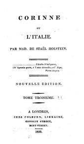 Corinne, ou, L'Italie: Volume3